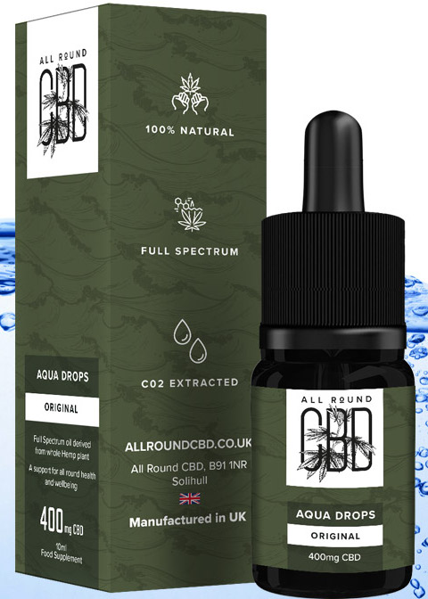 Aqua Drops for CBD infused drinks